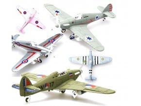 Hračky- 4D Model letadla 1:64 - vlastní sestavení- více druhů