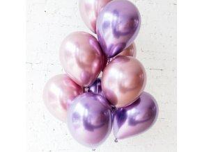 10 Ks mix balonků růžovofialové na párty, narozeniny