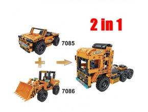Hračky- Stavebnice, 2v1 model kamion- vlastní sestavení 200+ 199 ks
