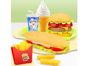 Dětské hračky- Sada rychlého občerstvení do dětské kuchyňky- 2 varianty
