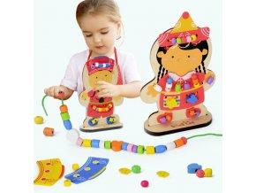 Vzdělávací oboustranná dřevěná hračka- Dárky k Vánocům