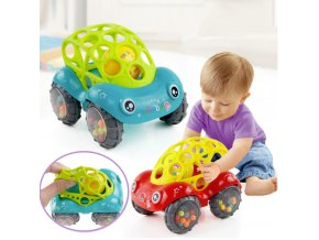 Hračky pro děti- 3v1 auto- kousátko, chrastítko, auto- Vánoční dárky