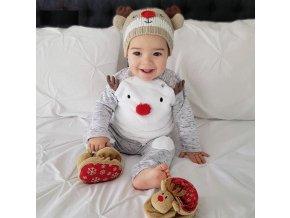 Dětské oblečení- vánoční set- tričko, tepláky Sob