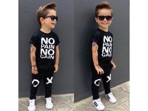 Dětský set tričko a tepláky No pain no gain