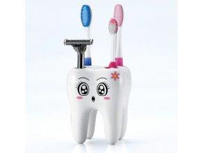 Koupelna- držák stojan na zubní kartáčky ve tvaru ZUBU