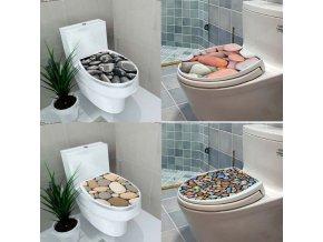 Dekorace- Nálepky na wc KAMENY