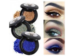 Kosmetika krása makeup třpytky - ultratřpytivé oční stíny