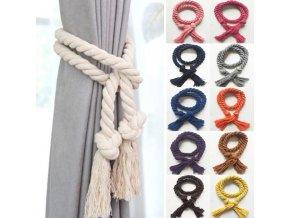 Dekorační provaz lano na závěsy 1ks- více barev