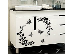Dekorace- nálepky samolepky kytky a motýli