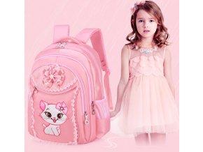 Školní batohy- holčičí batoh Kočka