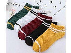 Retro kotníkové ponožky 5 párů