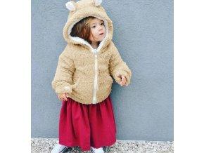 Dětská teplá mikina kožíšek s ušima