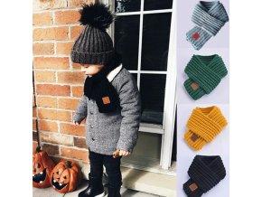 Pro děti dětské oblečení kojenecké oblečení  - dětská pletená šála 7 barev
