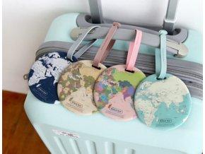 Visačka, jmenovka na kufr, zavazadlo- MAPA 4 barvy