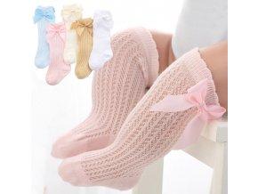 Dětské oblečení- dlouhé ponožky, podkolenky s mašlí, více barev