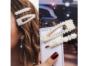 Pro ženy- set sponek s perličkami do vlasů typ 3