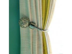 Dekorace do bytu záclony závěsy - kovová dekorační svorka na záclony a závěsy k přidělání na zeď 2 kusy