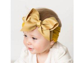 Dětská čelenka s velkou mašlí- více barev