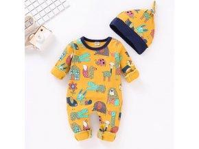 Pro děti dětské oblečení kojenecké oblečení  - oranžové dupačky se zvířátky