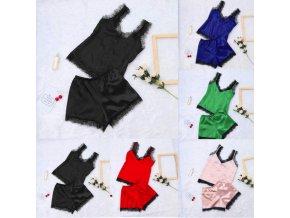 Dámské krajkové pyžamo prádlo více barev