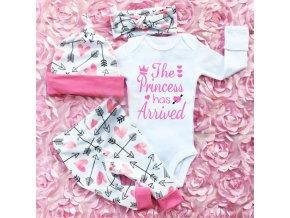 Oblečení pro děti dětské oblečení oblečení pro miminka roztomilý set pro princeznu princess - body+legíny+čelenka+čepička