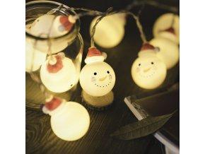 Vánoce- vánoční LED řetěz Sněhulák 1m