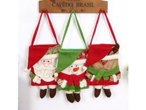 Vánoce- dárková taška, dekorace- los, sněhulák, santa
