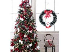 Vánoce- vánoční věnec na dveře, okno- dekorace