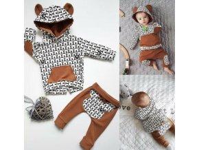 Dětské oblečení- dětský set, mikina, tepláky s medvídky