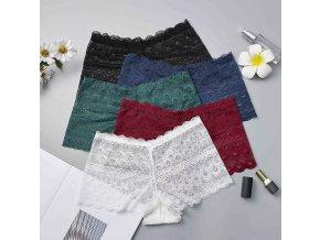 Dámské vyšší krajkové kalhotky- více barev