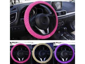 Ochranný elastický kryt, potah na volant plyšový- více barev
