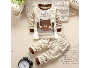 Dětský set tričko s dlouhým rukávem a tepláky Medvěd