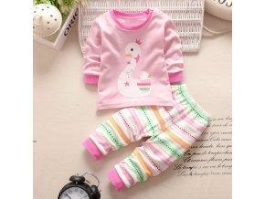 Dětský set tričko s dlouhým rukávem a tepláky Labuť