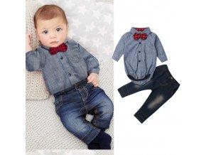 Oblečení pro děti levné dětské oblečení dětské oblečení - denimový set pro chlapečka