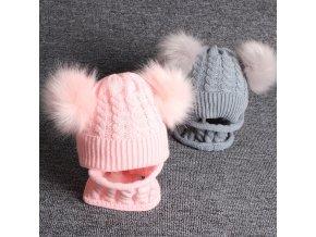 Pro děti zimní čepice dětské zimní čepice zimní čepičky - set čepice + nákrčník - 5 barev