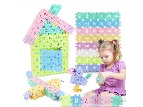 Best dárky pro děti- Vánoční dárky pro děti barevná stavebnice s čísly 48ks