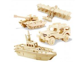 Dárky pro děti hračky pro děti- 3D dřevěné puzzle na sestavění