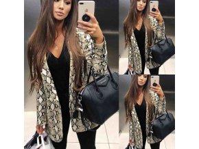 Kabát- dámský kabát se vzory NEW
