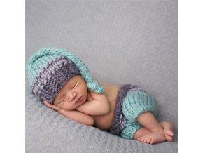 Pro děti oblečení pro miminka foto set - pletená sada pro novorozenecké focení