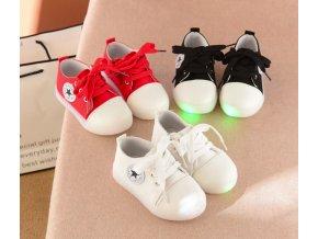 Dětské svítící boty s hvězdou- 3 barvy