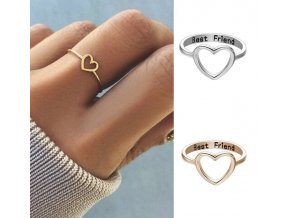 Dámský elegantní prstýnek přátelství BEST FRIEND více barev