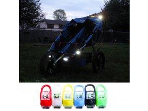 Pro děti- LED světlo na dětský kočárek- více barev