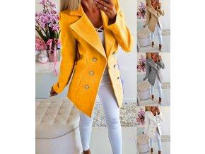 Dámský stylový podzimní kabát více barev až 3XL