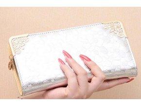 Dámská vysoce luxusní stříbrná peněženka