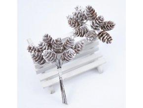Vánoční Dekorace- 10ks zimní ozdobné šišky na tvoření- Výprodej skladu