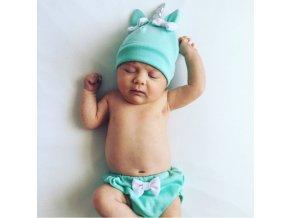 Dětské čepice- krásné čepičky pro nejmenší Jednorožec- Více barev