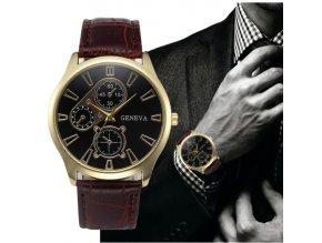 Elegantní pánské hodinky s koženým páskem- tip na vánoční dárek