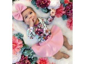 Dětské oblečení- dívčí set body, sukně a čelenka NEW