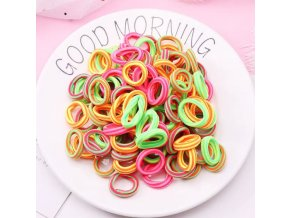 Pro dívky- barevné gumičky do vlasů 100ks Mix barev- Dárky k Vánocům