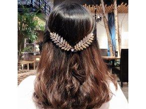 Pro ženy- ozdobná čelenka do vlasů s lístky vhodná na svatbu nebo ples